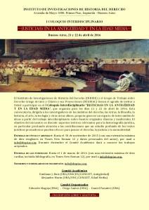 Primera Circular Coloquio Justicia(s) Antigua y Medieval